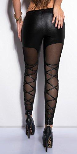 Hot leggings avec empiècement en mailles filet à l'arrière - Noir