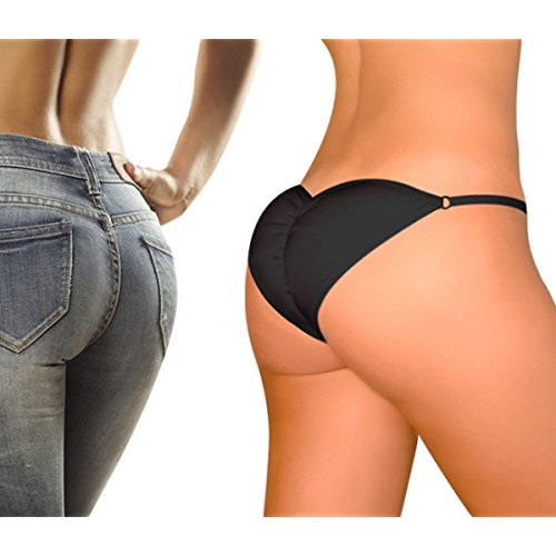 Brazilian Secret Woman\'s Padded Panty | Sexy Lingerie For Butt Lifting | Pack of 01 (Black, Free Size)