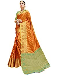 EthnicJunction Booti Zari Butta Designer Banarasi Silk Saree With Zari Thread Work Unstitched Blouse Piece(EJ1178...