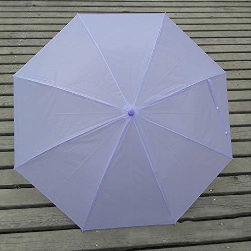 LZBDKM Klar Langgriff Regenschirm Frauen Winddicht Candy Farbe Regenschirm Klar Durchscheinend Regen Sonnenschirm Manuell Offenen Regenschirm2
