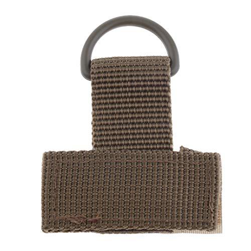 P Prettyia Gurt Schnalle Schlüsselanhänger Halter aus Nylon - Khaki -