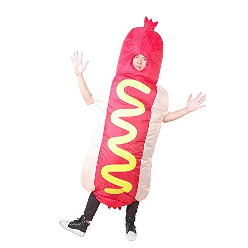 Kostüm Bald Auch Partei - XIBAO aufblasbare Kostüme für Erwachsene, aufblasbares Kostüm, aufblasbares Hotdog-Tanzkostüm, lustige Puppenstützen der Partei, Kostümkostüme