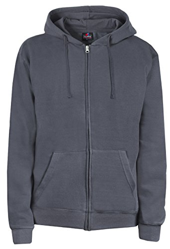 SUMG Apparel Unisex Kapuzenjacke Kapuzen Sweat-Jacke 'BASIC Hooded Zipper' (XXL, dunkel grau) (Zip Sweater)