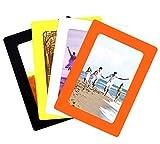 YGSAT Set di 4 cornici grafiche Colorate Standard Dimensioni Pocket Magnetic Photo Portafoto Magnetici Adatto per Frigorifero, lavastoviglie, armadi scolastici,Standard 4 x 6 Pollici