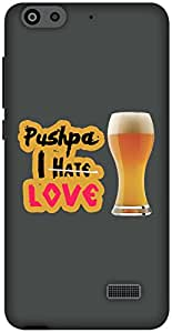 The Racoon Lean I Love Beer hard plastic printed back case / cover for Huawei Honor 4C