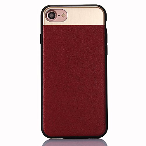 "Coque pour Apple iPhone 6/6s 4.7"", CLTPY Placcatura Housse dans Doux Dual Layer Silicone Plastic Etui Protection Case Coquille pour iPhone 6,iPhone 6s + 1x Stylet - Or Red"