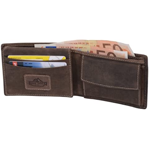 Mini-cartera RED ROCK, de cuero, 11x8,5cm