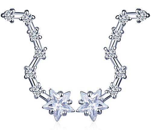 unendlich-u-fashion-sterne-meteor-damen-ohrstecker-925-sterling-silber-zirkonia-ohrklemme-ear-cuff-o
