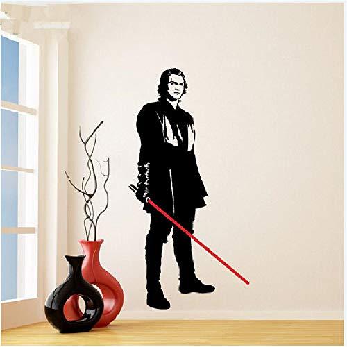 Wandtattoo Vinyl Aufkleber Star Wars Anakin Skywalker mit Lichtschwert gestanzt junge Darth Vader Art Removable Mura
