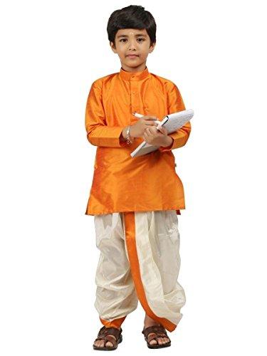 Kinder-Jungen-Kurta-Dhoti-Set-indisch-Ethnischen-Kultur-Fancy-Party-Kleid-Baumwolle- - Dhoti Kurta
