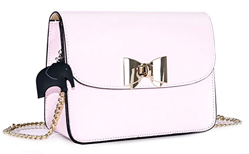 Big Handbag Shop - Borsa a tracolla donna Baby Pink