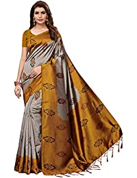 b53e5e1460c Ishin Silk Saree with Blouse Piece (Ishinscshb-CA-Shilpayellow Grey Free)