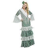My Other Me - Disfraz de flamenca feria para mujer, color verde, XL (Viving Costumes 203870)