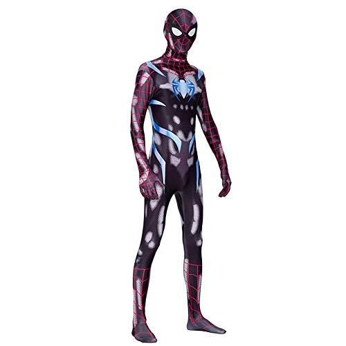 Ps4 Spider Man Kostüm Cosplay Halloween Stretch Strumpfhosen Erwachsene Kinder Party Requisiten,Men-L (Coole Spiderman Kostüm)