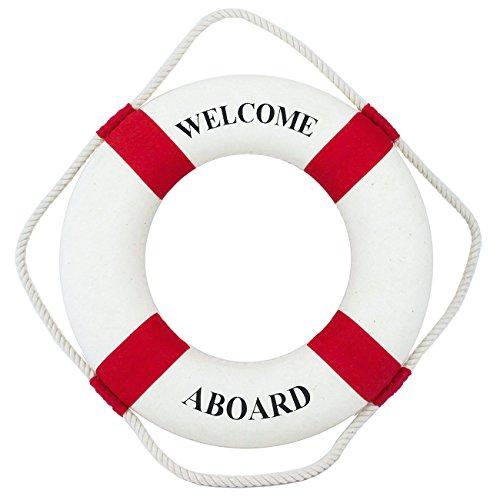 Navyline Dekorations-Rettungsring 45cm, Farbe:Rot