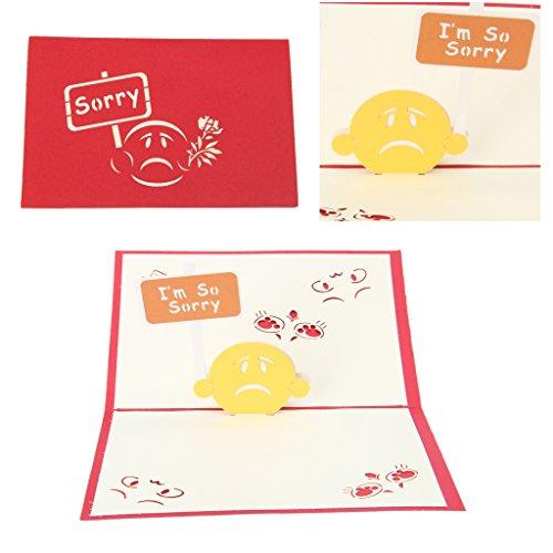 Arich Sorry 3D Pop up Post Karte handgefertigt Kit Postkarte Passende Umschlag Laser Schnitt für - Machen Zu Pop-up-karten Halloween