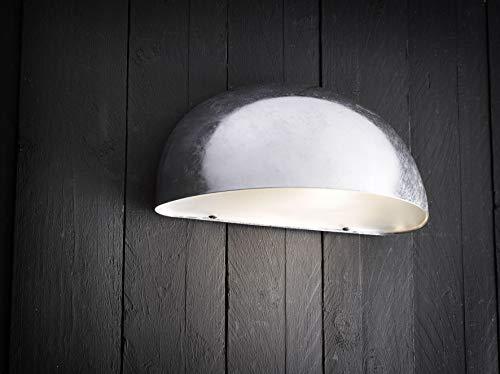 Nordlux Downlight, Metall, E27, 60 W, grau, 27 x 13.5 x 13 cm (Wall-ball-mount)