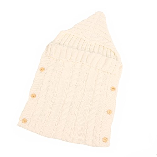 Butterme Neugeborene Baby Swaddle Decke Schlaf Sack Baby Wrap Winter Warm Knit Decke Swaddle Schlafsack Spaziergänger Wrap