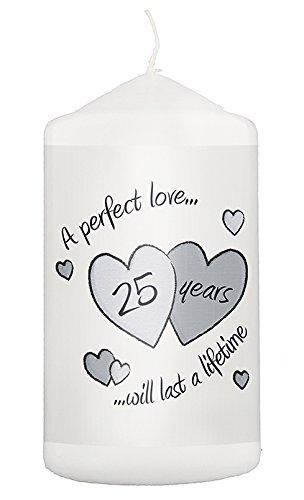 fte Silber Hochzeit Jahrestag Kerze Neuheit Geschenke Idee Andenken für Ihm Ihre Paar Mann Frau ()