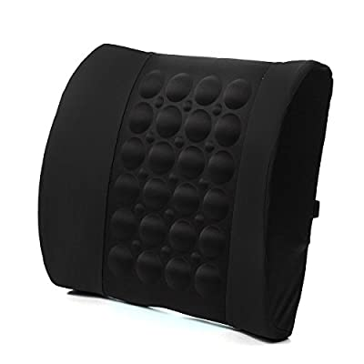 JOYSTORE Cushion for Back Support Lumbar Spine Car Office Chair Seat Massage Vibration Pain Relief - inexpensive UK light shop.