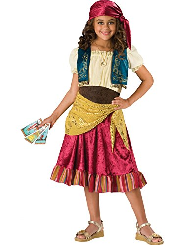 InCharacter Costumes, LLC Girls 2-6X Gypsy Dress Set, Multi Color, Small