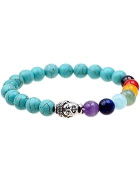 ISHOW 7 Farbe Besuch Yoga Meditation Heilung Buddha Buddhist Gebet Zen Buddhismus Reiki Energie Mala Armband