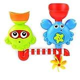 Chenqi Bad Spielzeug Wasserfall Wasser Station-Badewanne Spielzeug Saugnäpfe Kinder 18 Monate & Oben Spray Spielzeug mit Saugnäpfen für Kinder Babys und Kleinkinder