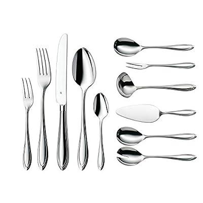 WMF Besteckset Florenz, für 12 Personen, mit Monobloc-Messer, Cromargan Edelstahl poliert, spülmaschinengeeignet