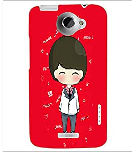 PrintDhaba Cartoon D-4256 Back Case Cover for HTC ONE X (Multi-Coloured)