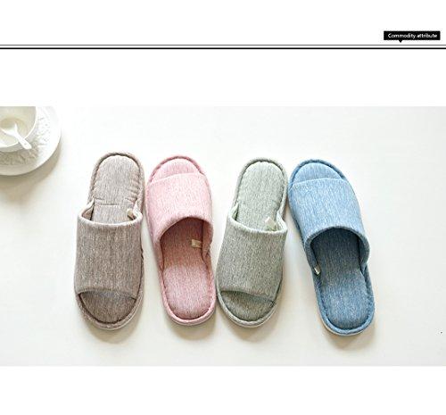 Lijeer Pantofole Interne in casa Cotone Accappatoio Memory Foam Cotton Foam Pantofole Casa Casual Pantofole Open-Toes Spessa Grossa Pattini a Striscia a Strisce Verde