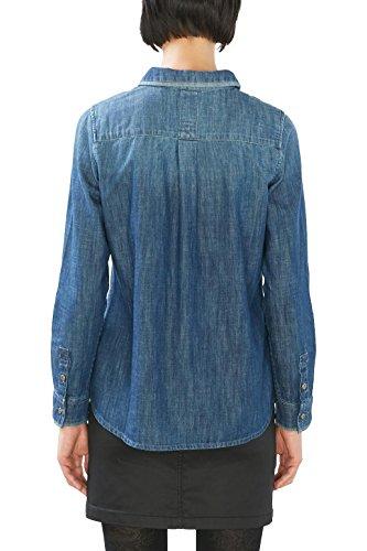 edc by ESPRIT Damen Bluse Blau (blue Medium Wash 902)