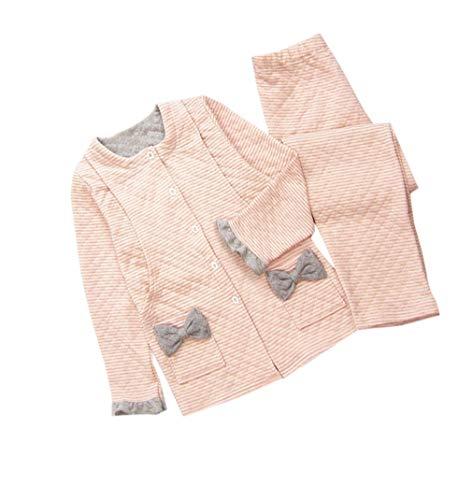 zhxinashu Mutterschaft Still Frauen Pyjamas Set Weiche Winter Langarm Stillen Nachtwäsche(Rosa/M) Rosa Pyjama Set