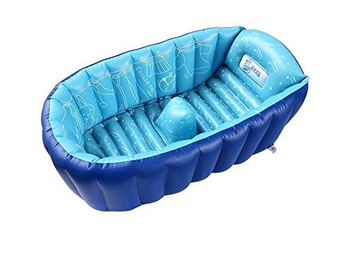 LINAG Bébé Gonflable Baignoire Pliable Portable Bain Sécurité Anatomy Douche Ergonomique Douche Enfant Piscine Voyager Jeu Plage Jouer