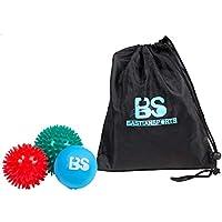 3er-Set Massageball Set mit jeweils 2 Igelbällen/Noppenbällen und 1 Lacrosseball/Faszienball - Perfekt geeignet für Selbstmassage und Triggerpunktherapie für Rücken, Unterarme, Schultern und Füßen. preisvergleich bei fajdalomcsillapitas.eu