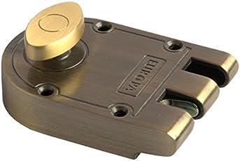 Europa Locks J-310 Brass Jemmy Proof Door Lock, (J-310AB, Antique Brass)