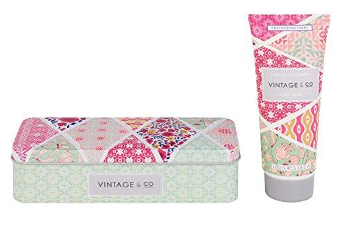 Vintage & Co Stoffe und Blumen Hand Creme in Dose, 100ml