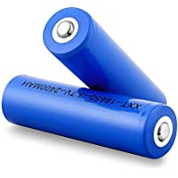 Mbuynow 2x 18650 3.7V 2400mAh Lithium Li-ion Rechargeable Batteries for LED Flashlight Torch