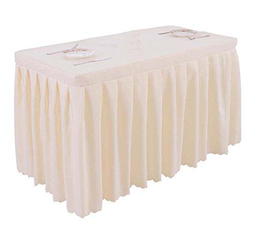 Table de table de bureau / jupe Ensemble de table de mariage pour mariage de jupe Blanc