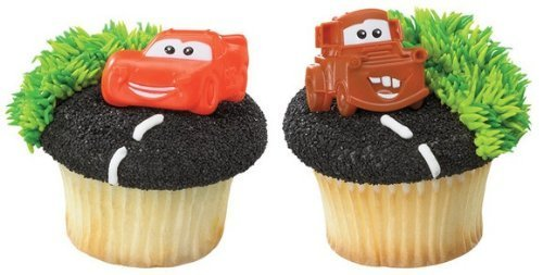 Disney Cars Mater and McQueen Cupcake Rings - 24 ct by DecoPac (Cars Disney Cupcakes)