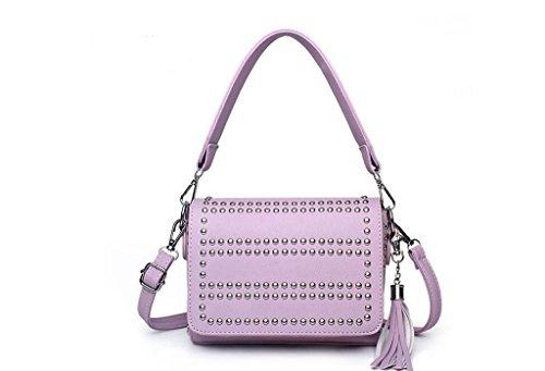 Ms. borse, borse, borsa a tracolla, borsa messenger purple