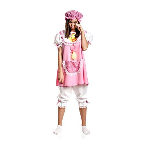 Kostüm Erwachsene Für Witzige - Kostümplanet® Baby-Kostüm für Damen + Mütze rosa witziges Faschingskostüm Größe 52/54