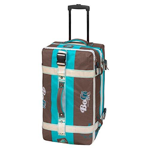 BoGi Bag Reisetasche Rollkoffer Reisekoffer Koffer, 72 cm, 85 L, Türkis/Braun Preisvergleich