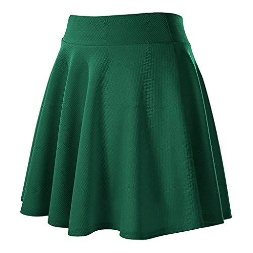 Modern Kostüm Day Prinzessin - ➤Refill➤ Röcke für Damen,Damen Mädchen Basic Solid vielseitige dehnbaren informell Mini Skater Rock