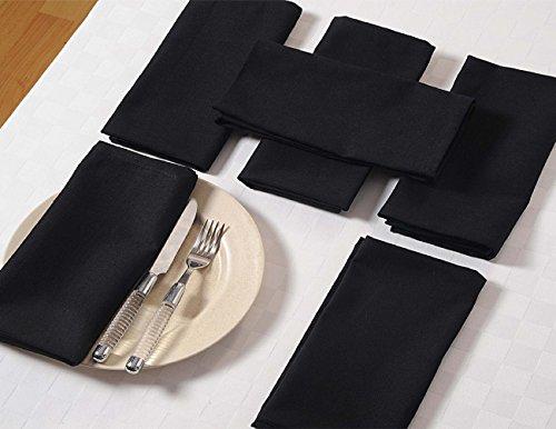 (Schwarz Servietten Set von 6; Baumwolle Tischwäsche; Frühlings-Dekorationen für Haus)
