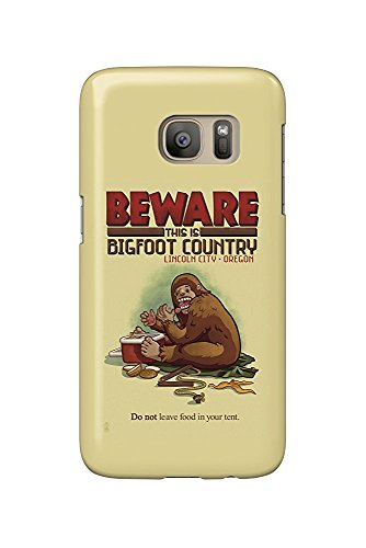 Lincoln City, Oregon - Bigfoot Country - Don't Store Food in Tent (Galaxy S7 Cell Phone Case, Slim Barely There)
