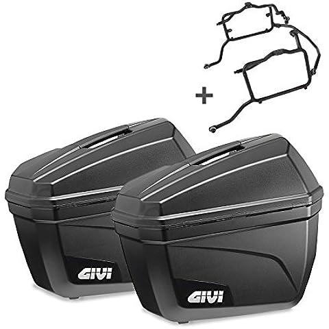 Juego de maletas laterales Set Honda Varadero 125 07-14 Givi Monokey E22N negro 22 litro