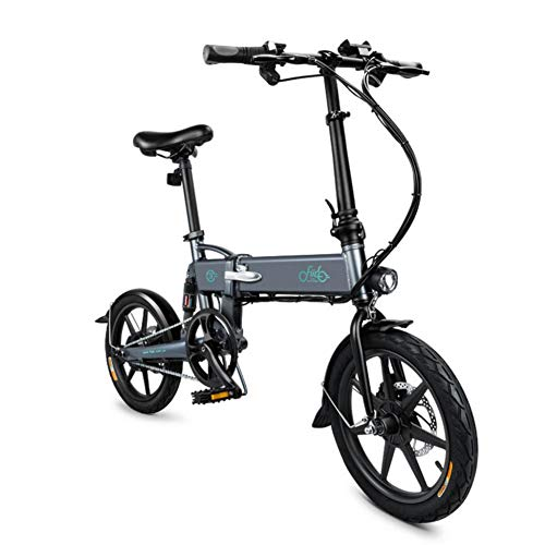 FIIDO D2 Ebike, Bicicletta elettrica pieghevole con luce anteriore a LED per adulti, Bicicletta elettrica pieghevole con ruote da bici da 250 W 7.8Ah