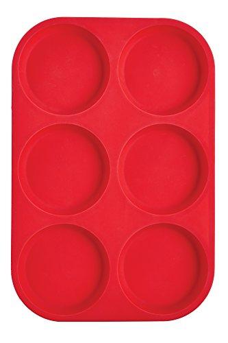 Mrs. Anderson's Backförmchen Pfanne mit Oberfläche für Muffins New 6-Cup Muffin Top rot - Oberfläche Top