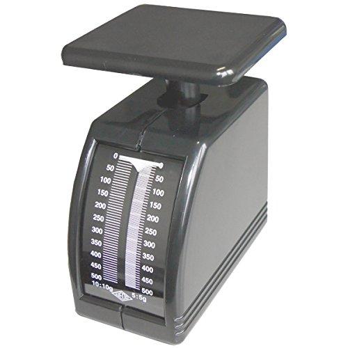 Wedo 249862101 Federwaage Handy (500 g, mechanische Brief- und Diätwaage (aus Kunststoff, abnehmbare Schale) schwarz