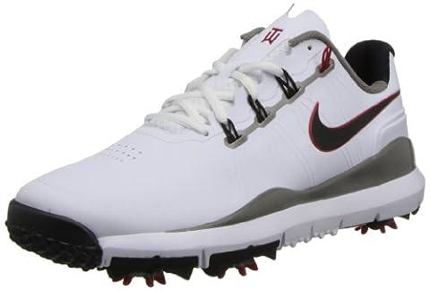 Nike Golf TW '14 Herren-Golfschuhe Weiß/Grau/Rot EU 43 (Nike Free Trainer Rot)